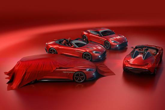 Aston Martin vanquish Zagato speedster in shooting brake