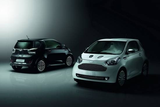 Aston martin cygnet – Launch edition White in Launch Edition Black
