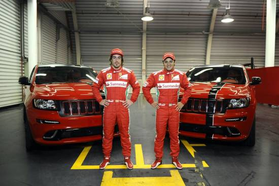 Jeep grand cherokee SRT8 za Alonsa in Masso