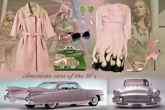 Nostalgija navdihuje -  Prada in american cars of the 50's